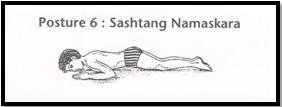 Surya Namaskar Pose 6 - Sashtanaga Namaskar