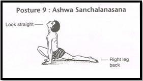 Surya Namaskar Pose 9 - Aswa Sanchalanasana